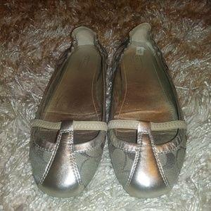 Silver Coach shoes